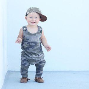 473e67e02cd25 Nouveau-né Enfants GARÇON Vêtements de bébé manches camouflage Romper  Jumpsuit Pyjama armée verte