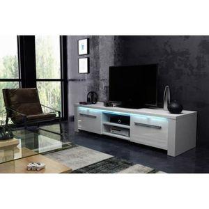 MEUBLE TV Meuble TV design en panneaux de particules coloris