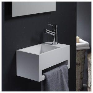 LAVE-MAIN Lave-mains gain de place en solid surface Prato 33