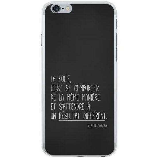 coque iphone 6 silicone phrase
