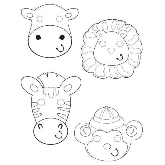 Masques colorier animaux de la jungle x6 achat vente masque d cor visage cdiscount - Jeux des as de la jungle ...