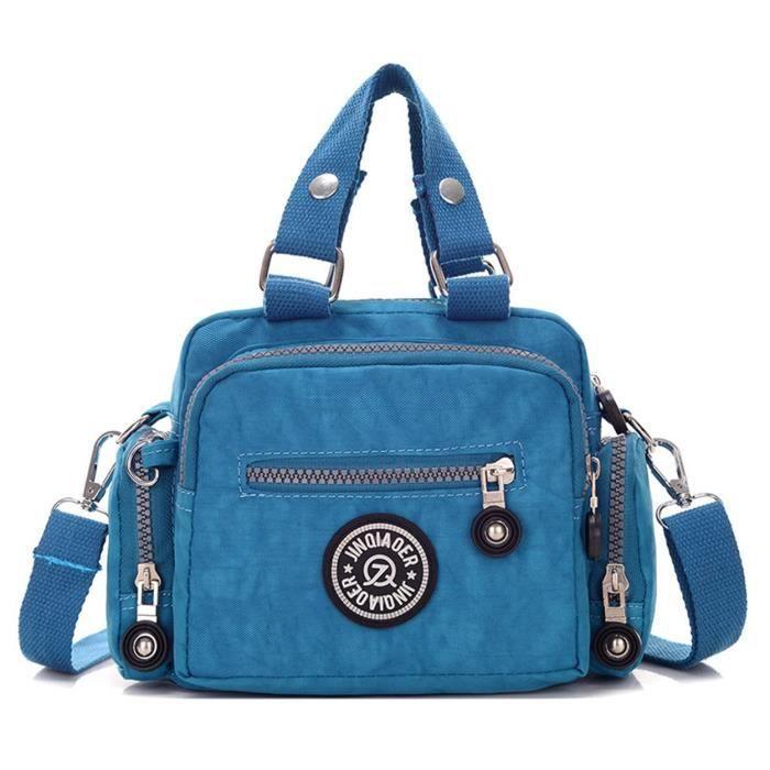 Mini Solide Couleur Résistant à leau en nylon Sac à main Croix épaule Body Bag & Girls L469N