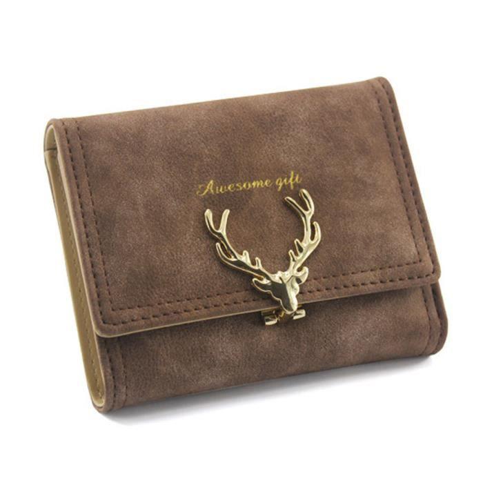 Elk Boucle Deessesale®mode cartes Porte Portefeuille Pour zjw11241779 Court Femmes Noël 5qErTEwxA