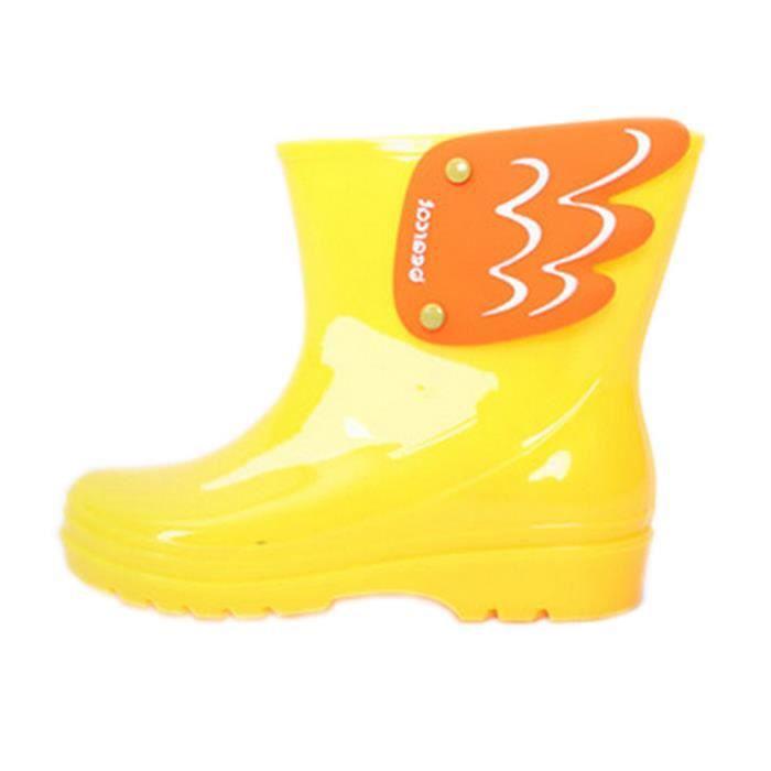 Mode bottes de pluie / enfant botte de pluie, Ailes jaune / 18 cm