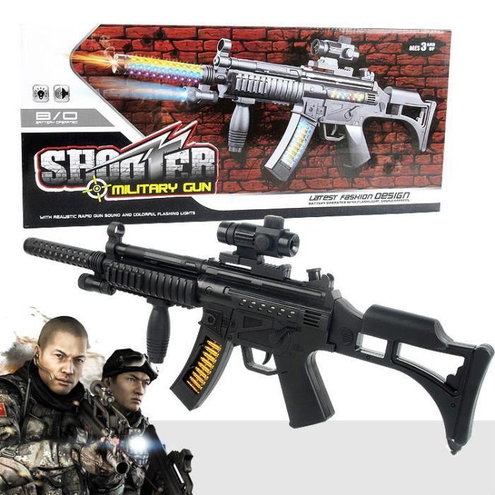 Nouveau Jouet électrique Pistolet Voix Mitraillette Légère Sniper