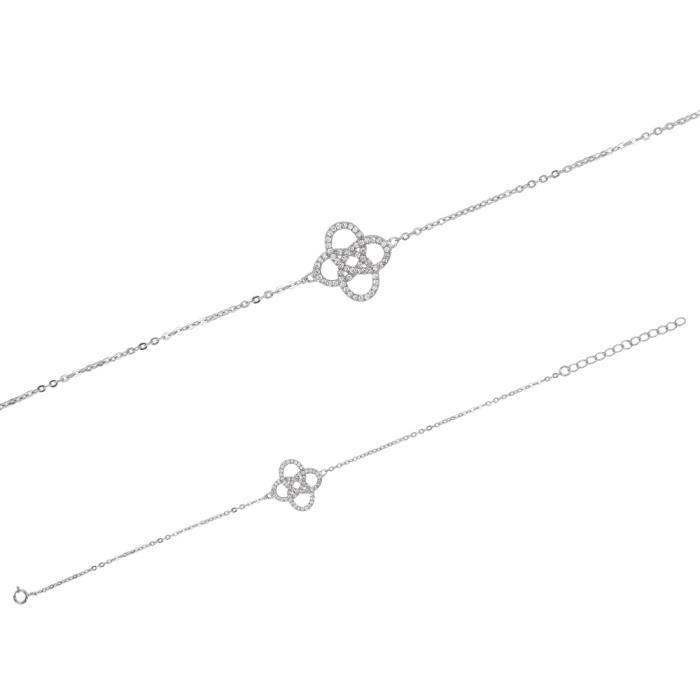 Jouailla - Bracelet argent 925-1000 rhodié et Oxydes de zirconium