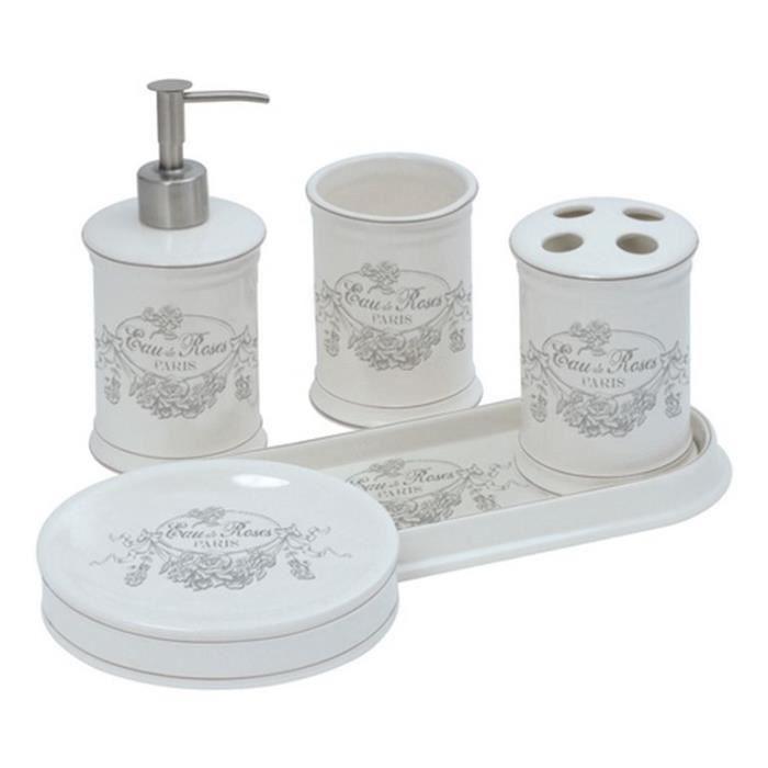 Set accessoires salle de bain eau de rose - Achat / Vente set ...
