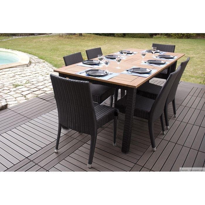 Salon de jardin Riverside Modern 1 table et 6 c… - Achat / Vente ...