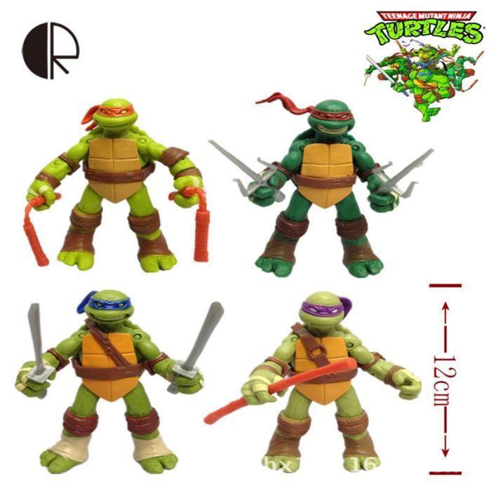 Figurine tortue ninja 12cm achat vente jeux et jouets - Image tortue ninja ...