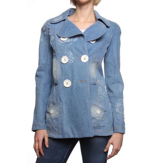 30ce32792c4 Dior Veste en Jean Bleu Bleu - Achat   Vente veste - Cdiscount