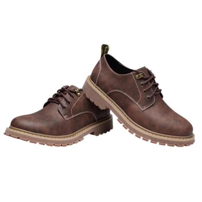 Homme Chaussure de Cuir Casual Simple Mode- Marron t6lWf8VjL