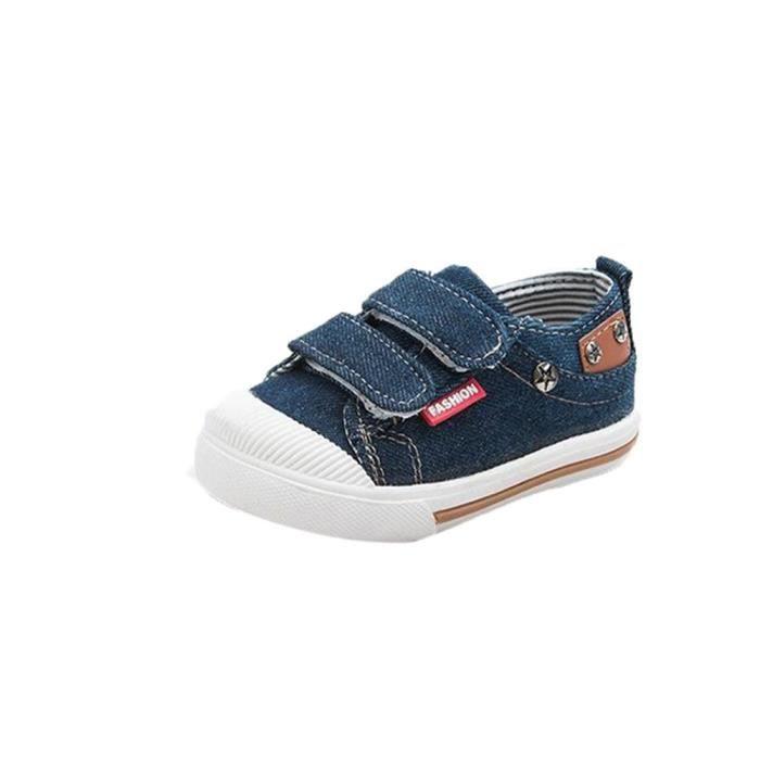 BOTTE Garçon Fille Bébé Enfants Toile Chaussures Printemps Automne Bébé Chaussures Toddler Chaussures@Bleu foncé mWT5Iv