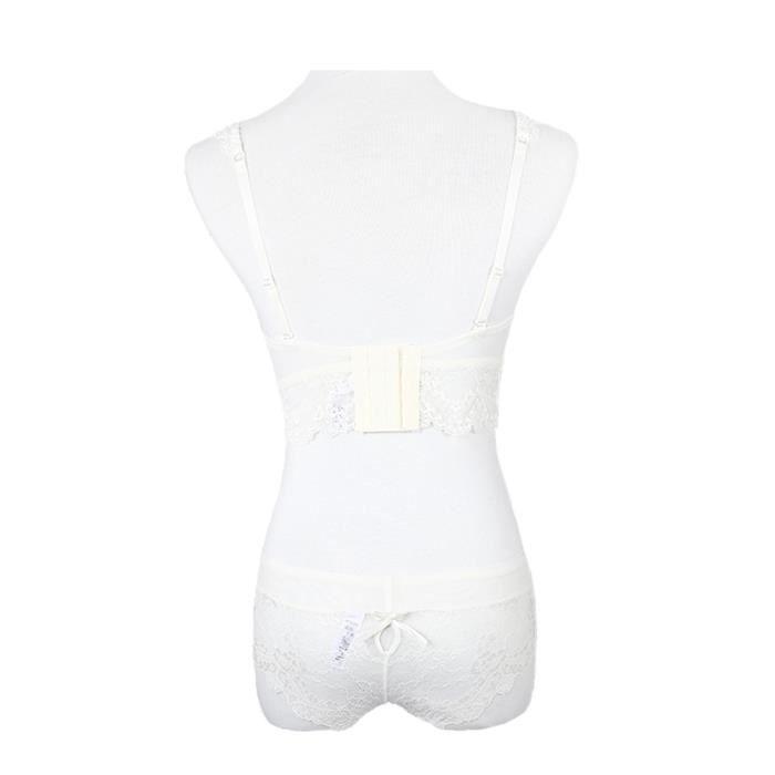 Soutien vêtements Sous Lingerie Sexy Dentelle Femmes Culotte gorge Intimates Blanc Upwyp70427007wh70a Ensemble 7w5nUq1