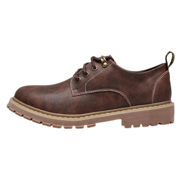 Homme Chaussure de Cuir Casual Simple Mode Derby Chaussure de Camping bfFLv1WE7g