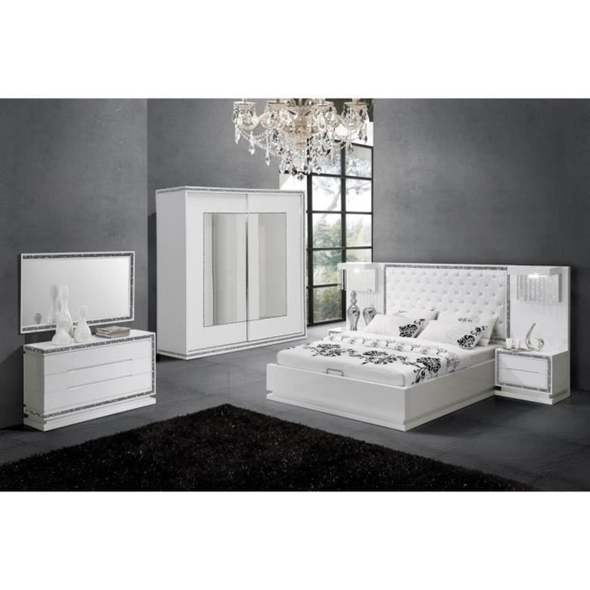 Chambre blanc laqu excellent best of photograph of for Chambre adulte laque blanc