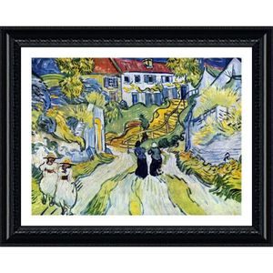 TABLEAU - TOILE Stairway At Auvers Vincent Van Gogh Black POSTER E