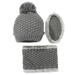 3f23180eb23 BONNET - CAGOULE Vbiger femmes chapeau chaud écharpe ensemble épais