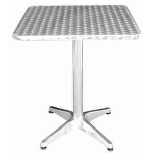 MANGE-DEBOUT acier inoxydable Harine table de bistrot carré