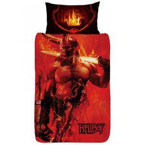 HOUSSE DE COUETTE SEULE Hellboy Single Housse de couette et taie d'oreille