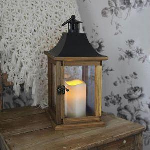 lanterne bois achat vente lanterne bois pas cher soldes d s le 10 janvier cdiscount. Black Bedroom Furniture Sets. Home Design Ideas
