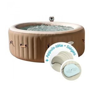 SPA COMPLET - KIT SPA Spa gonflable Intex PureSpa Bulles 4 personnes + 2