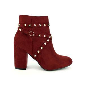 BOTTINE bottine - boots, Bottines Bordeaux Chaussures Femm
