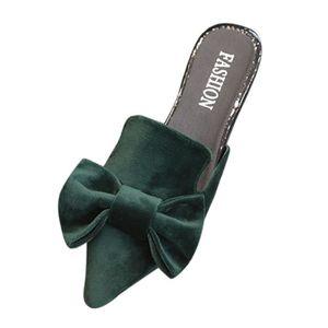 SANDALE - NU-PIEDS Femmes Mode Solide Couleur Bow bout pointu Sandale