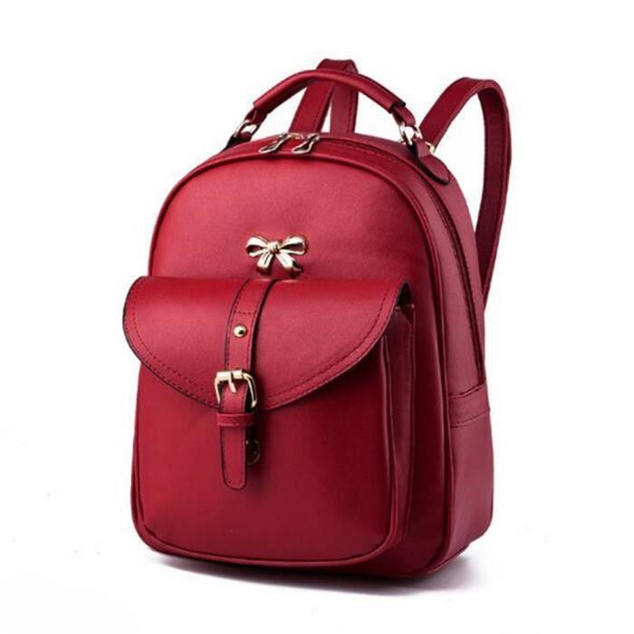 2018 sac à dos de la mode des femmes sacs à main en cuir roux sac cuir femme Sacoche Femme qualité supérieure sac luxe cuir