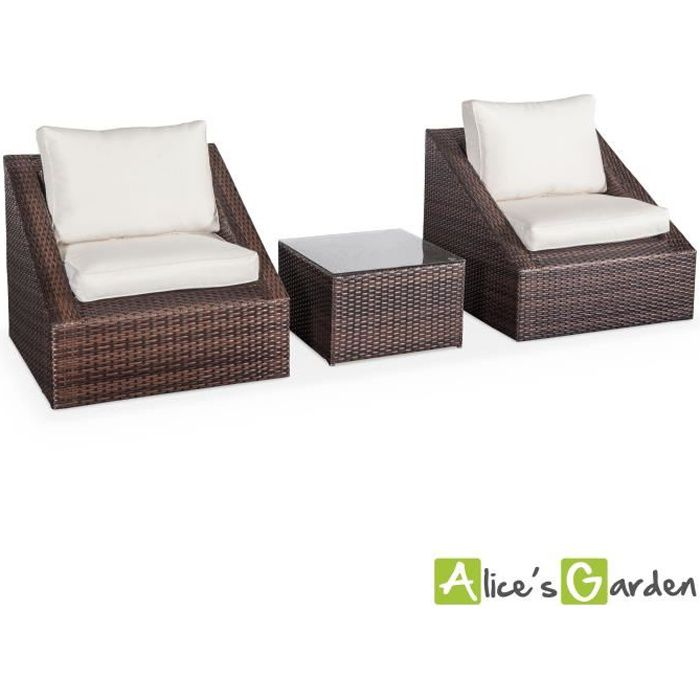 salon de jardin 2 places r sine tress e triangolo achat. Black Bedroom Furniture Sets. Home Design Ideas