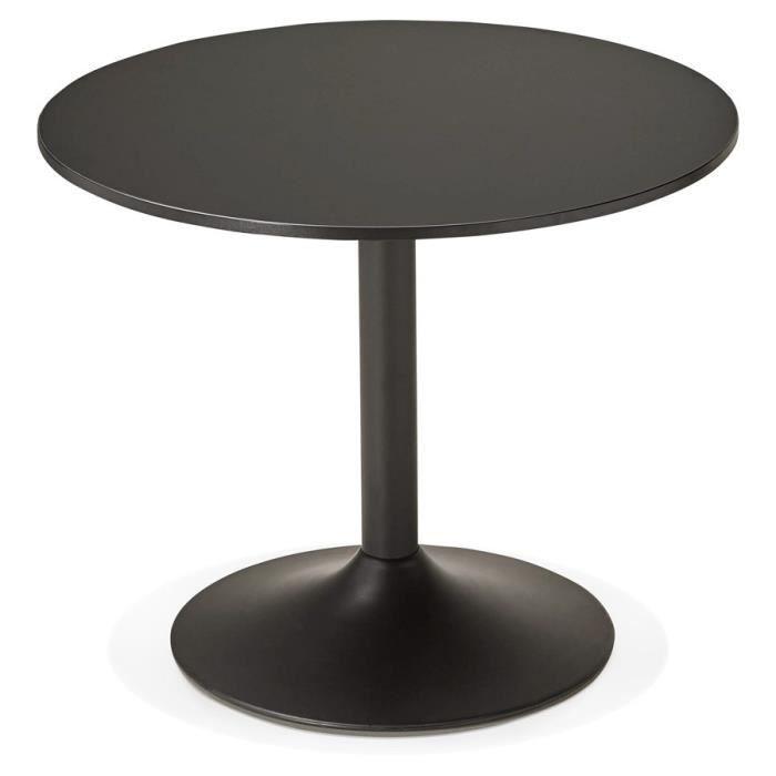 petite table de bureau ronde 'atlanta' noire - Ø 90 cm - achat