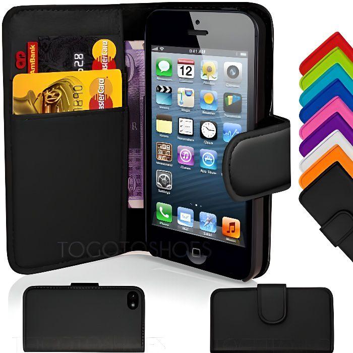 coque iphone 5 portefeuille