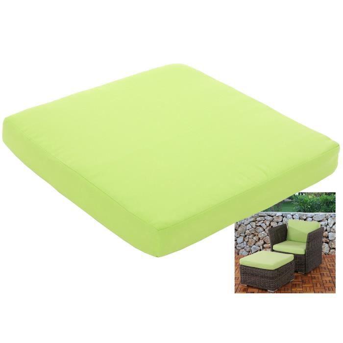 Coussin d\'assise pr salon de jardin modulable Siena polyrotin ~ vert ...