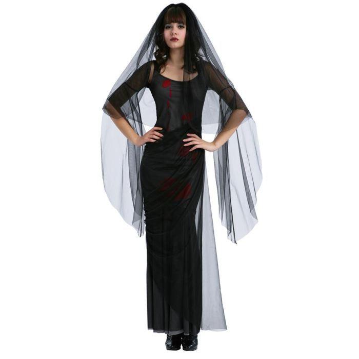 D guisement de mari e gothique a achat vente d guisement panoplie cdiscount - Deguisement halloween mariee ...