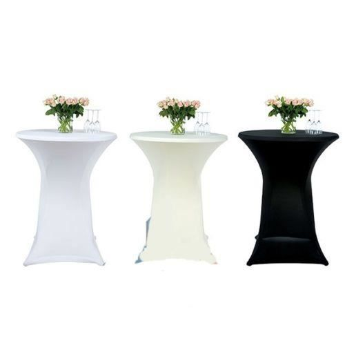 couleur blanche nappe table haute bar mariage achat. Black Bedroom Furniture Sets. Home Design Ideas
