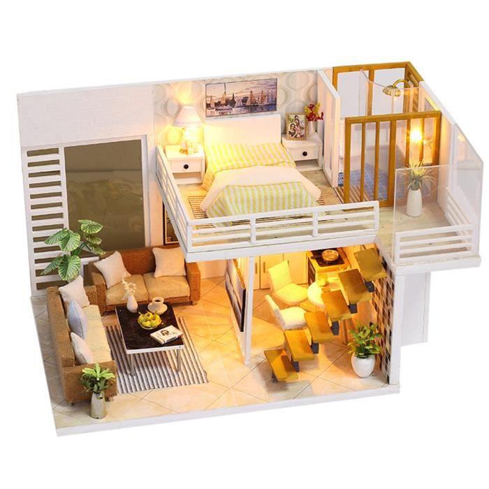 Assembler Bricolage Maison De Poupée Jouet En Bois Miniatura Kit