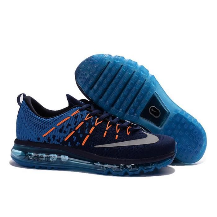 bb1745fcbcda ... Chaussures de running marine. BASKET Hommes Nike Flyknit Air Max 2016  Baskets Chaussure