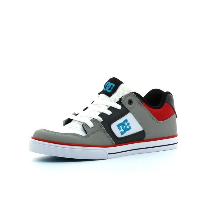Chaussures Pure Grey/Black/Red Cadet - DC Gris XC7PLkh7l