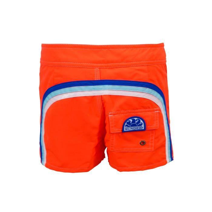 eba603f45ba105 Short de bain Homme Sundek 502 Orange Fluo Orange Orange - Achat ...