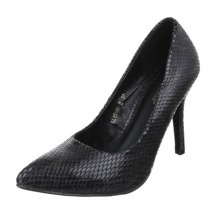 Femme chaussures escarpin High Heels noir 39
