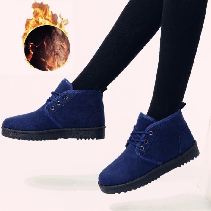 Bottes neige Botte Femme Antidérapant chaussure plus Taille plein en cachemire Extravagant de Hiver chaud Plus De Coton air 43 35 7Yf6ybg