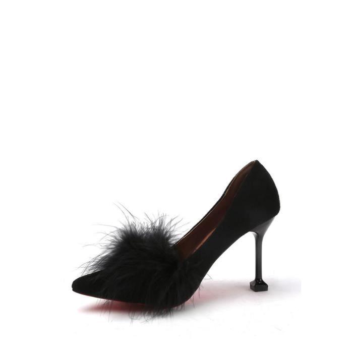 Escarpin Femmes Pompes Solide Couleur Patchwork Haute mince Chaussures à talons à la mode 10816666 DyNUUKfUx