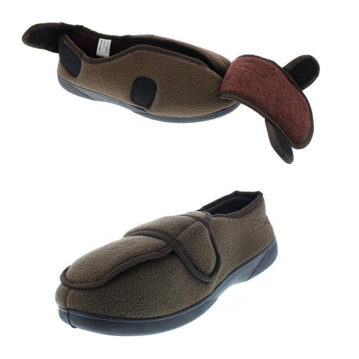 Sangle Pantoufle Maison Réglable Taille Mousse Mémoire Bootie Wrap Msz8s Large 43 Chaussures Orthopédique Goldtoe 5qxSXw