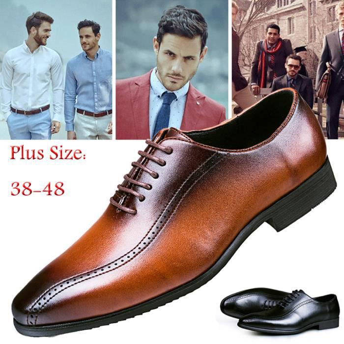 SABOT Chaussures Hommes Cuir Oxfords Style chaussures d'