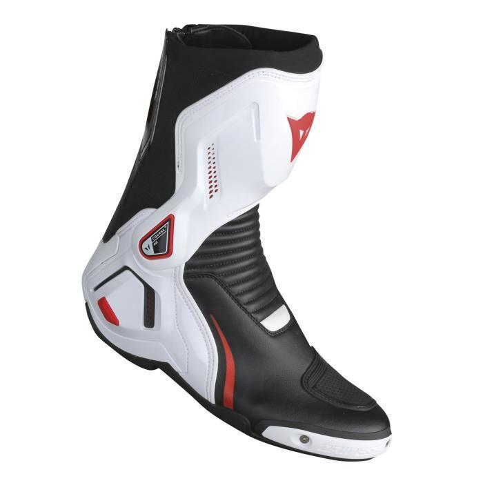 incroyable sélection comment choisir dernière sélection Bottes Moto Homme Dainese Course D1 Out Noir - Blanc - Rouge