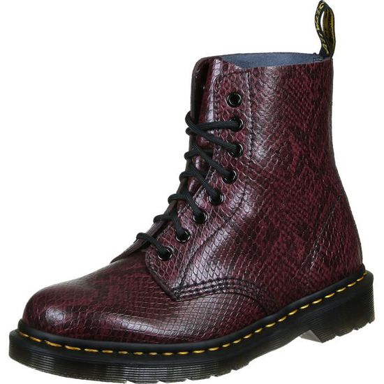 6cbeb42b22086 Dr martens Pascal wine T36 Rouge rouge - Achat   Vente bottine  2009827865869 - Cdiscount