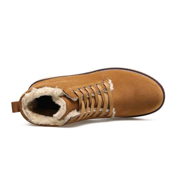 Bottes homme Bottes mode Bottes courtes Bottes avec coton Bottes pour l'hiver Chaussures étanches Chaussures chaudement Chaussures pY1Bk0