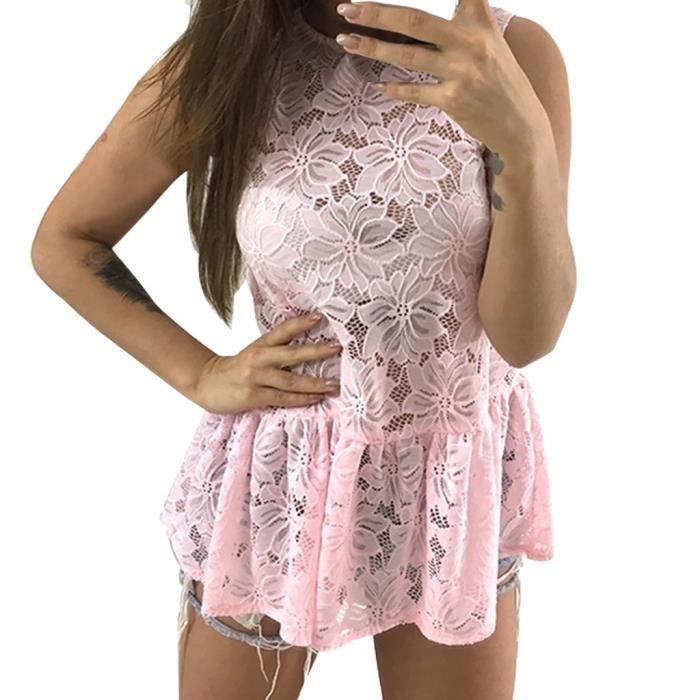 Ronde Pure Manches En Col Color Rose Dentelle Veste Femmes q4zwdIBxI