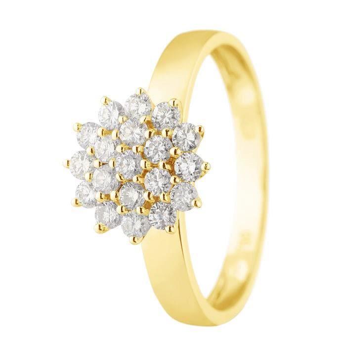 d774aeccc88 MONTE CARLO STAR - Bague Chou Or Jaune 18 Carats et Diamants - Femme ...