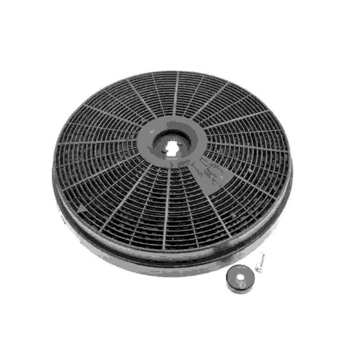 filtre charbon rond (20x2,8cm) (a l'unite) pour hotte bosch, siemens