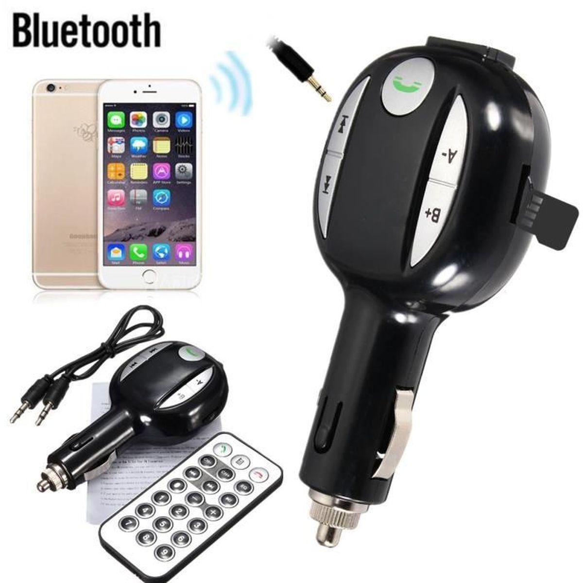 Bluetooth Sans Fil Voiture Allume Cigare FM Transmetteur Main Libre Pr iPhone